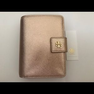 TORY BURCH ROBINSON FRENCH WALLET LIGHT ROSE GOLD